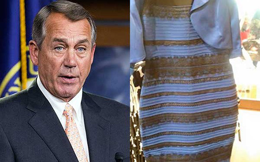 How We Know Boehner Doesn't Care About #TheDress