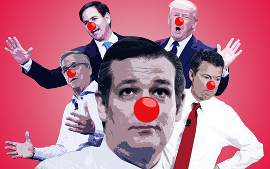 The GOP Clown Show's Alternate Reality in New Hampshire