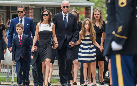 He's the Vice President, but at His Son's Wake, 'He's One of Us'