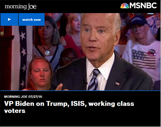 Biden gets standing ovation on 'Morning Joe'